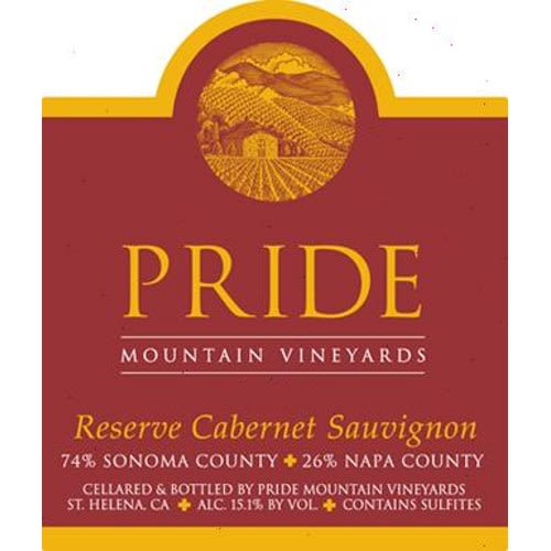 Pride Mountain Vineyards Reserve Cabernet Sauvignon 2003  Front Label