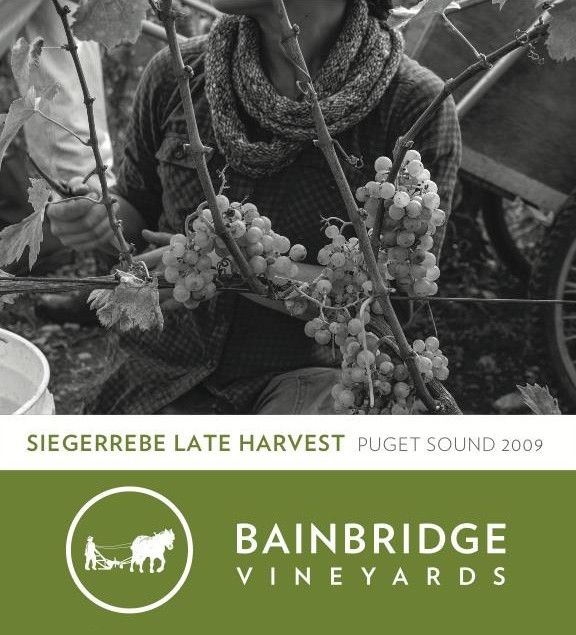 Bainbridge Island Vineyards & Winery Siegerrebe Late Harvest 2009 Front Label