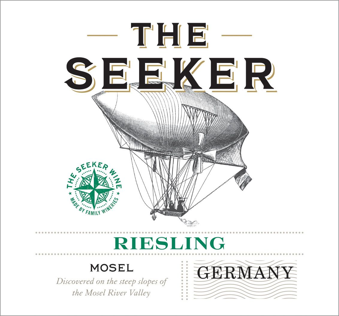 The Seeker Riesling 2018  Front Label