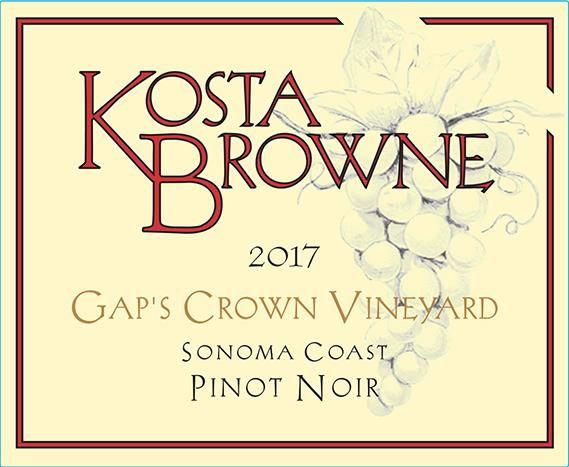 Kosta Browne Gap's Crown Vineyard Pinot Noir (1.5 Liter Magnum) 2017  Front Label
