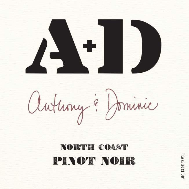 Anthony & Dominic Pinot Noir 2015  Front Label