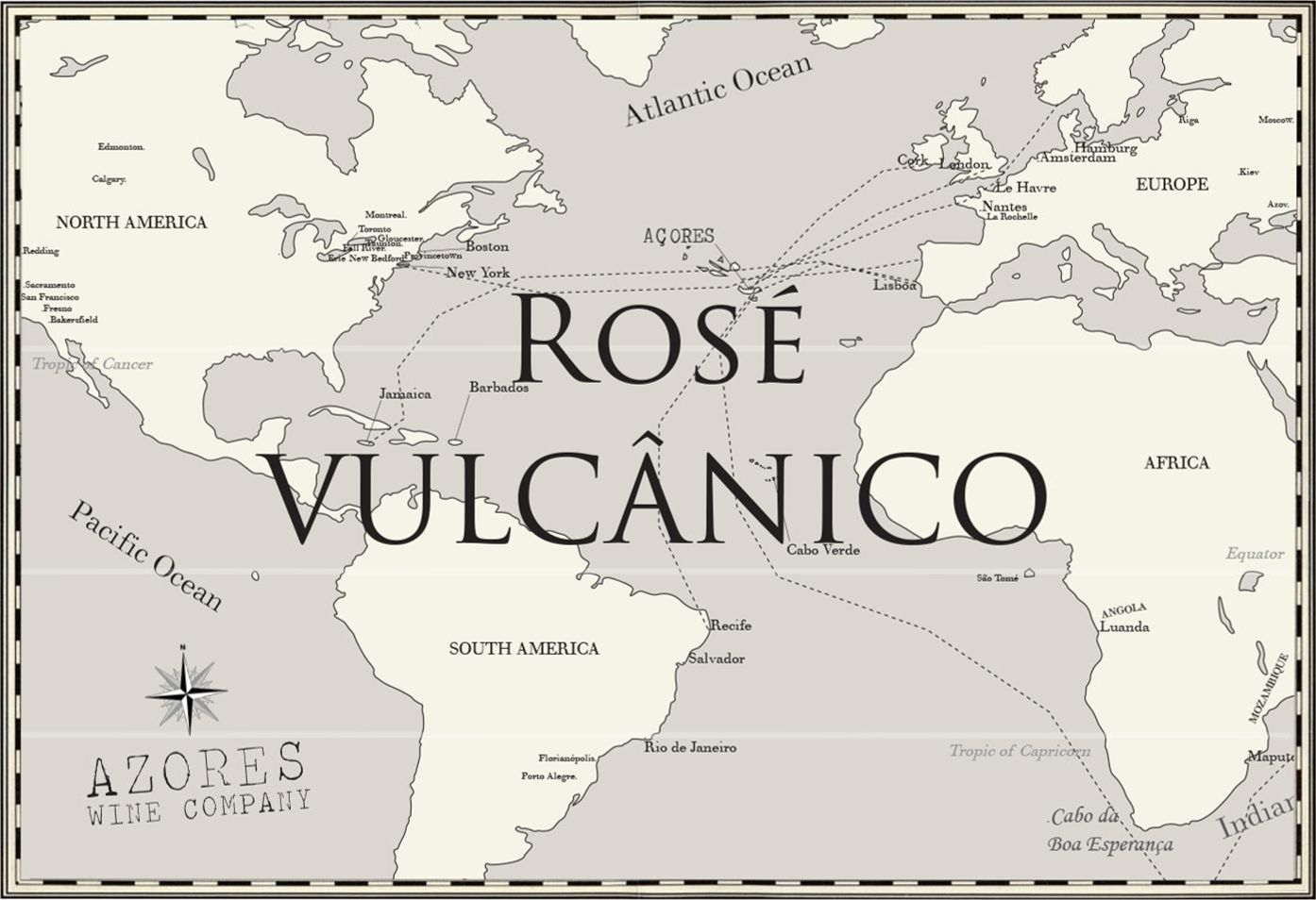 Azores Wine Company Vulcanico Rose 2018  Front Label