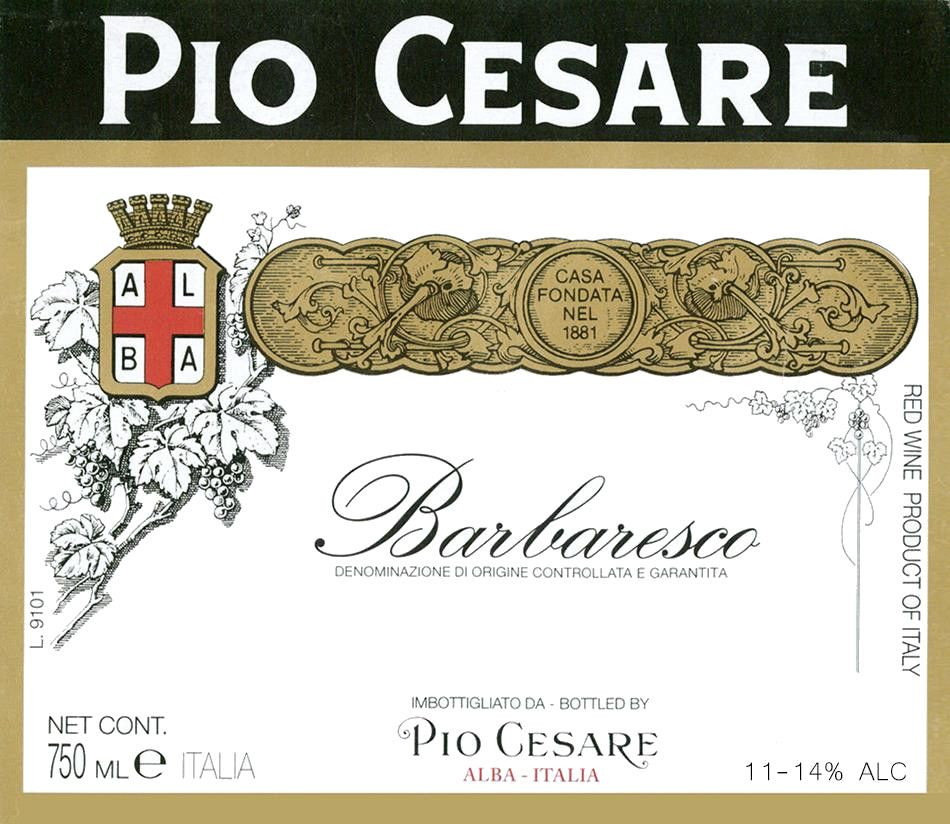 Pio Cesare Barbaresco 1986  Front Label