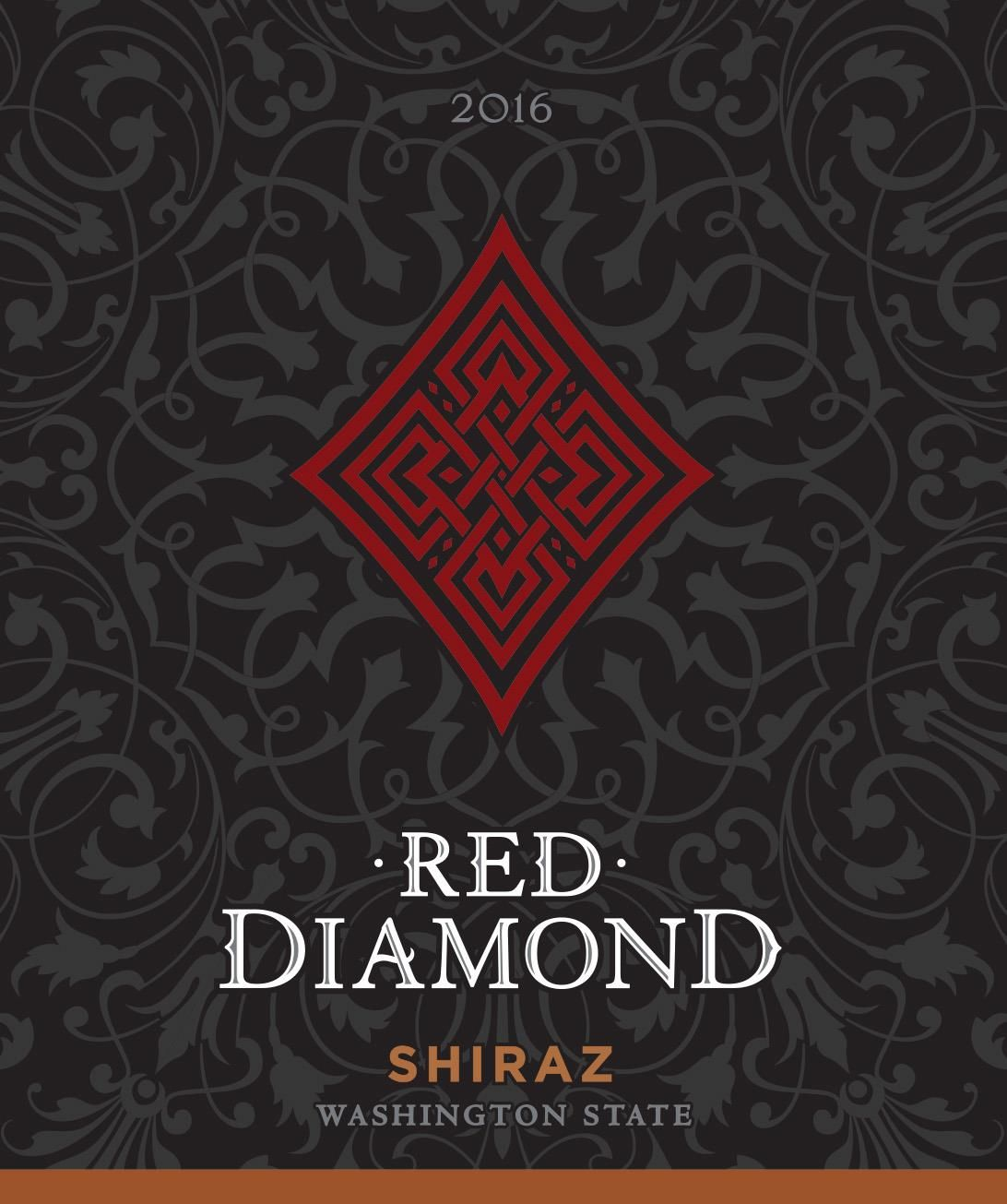 Red Diamond Shiraz 2016  Front Label