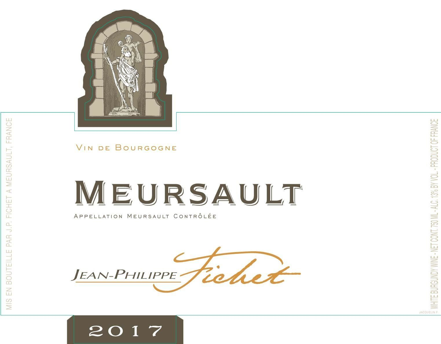 Jean-Philippe Fichet Meursault (375ML half-bottle) 2017 Front Label