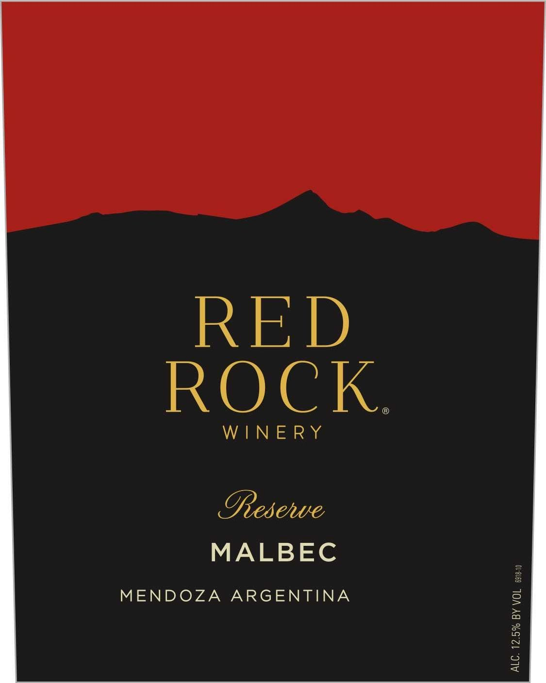 Red Rock Malbec 2019  Front Label