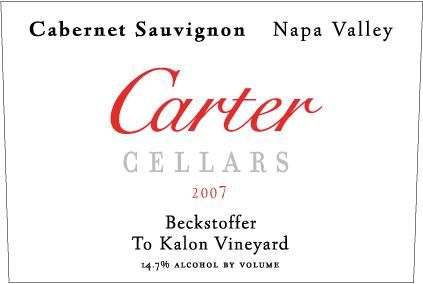Carter Cellars Beckstoffer To Kalon (375ML Half-bottle - signed) 2007 Front Label