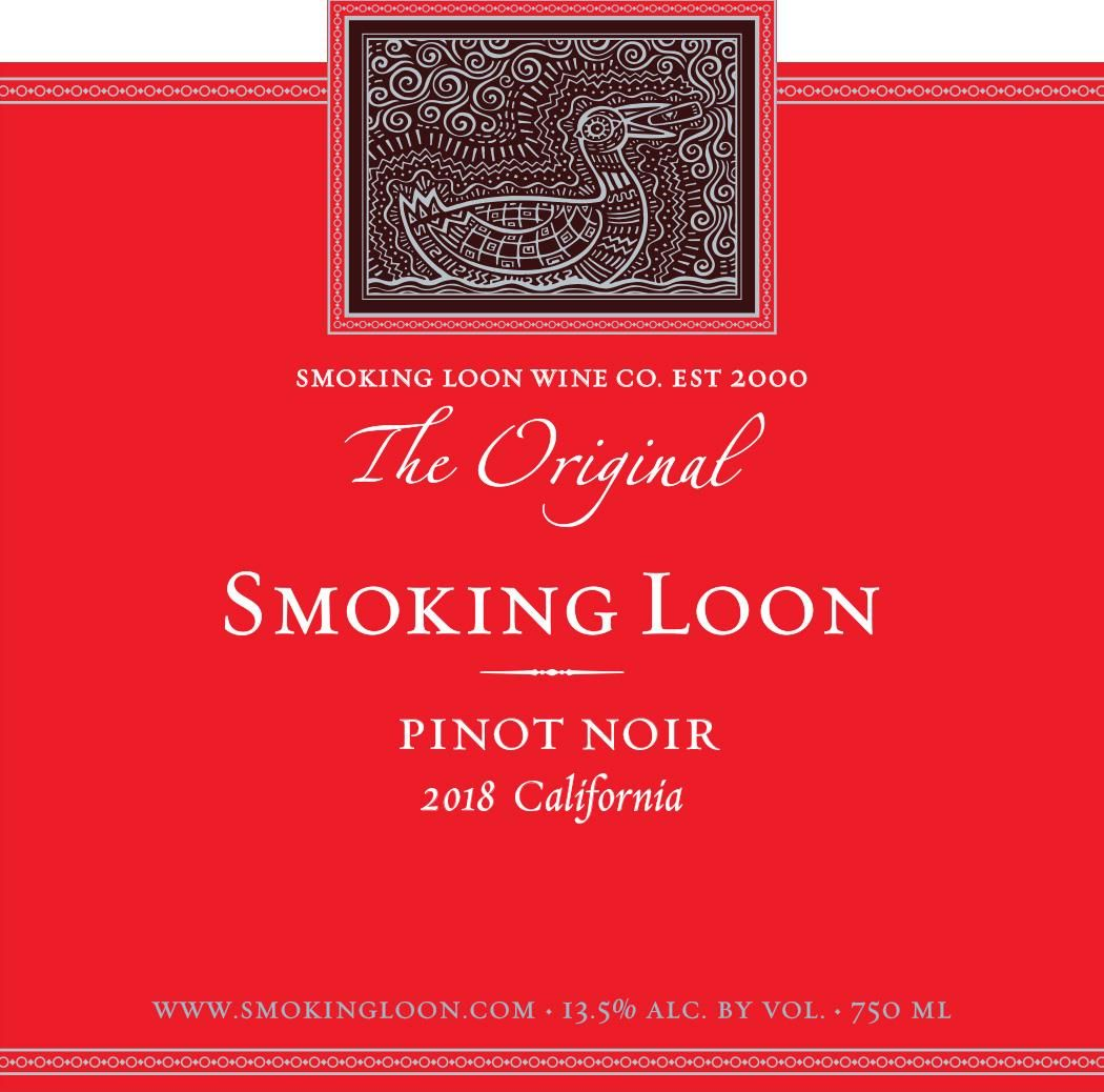 Smoking Loon Pinot Noir 2018  Front Label