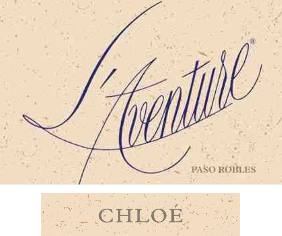 L'Aventure Chloe (stained labels) 2015 Front Label