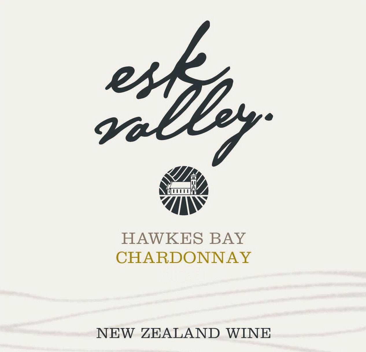 Esk Valley Chardonnay 2017 Front Label