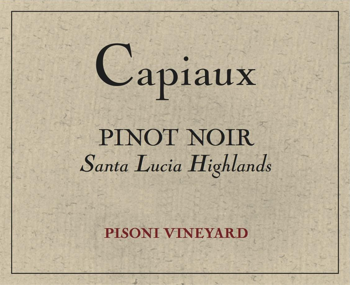 Capiaux Cellars Pisoni Vineyard Pinot Noir 2016 Front Label