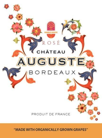 Chateau Auguste Rose 2018 Front Label