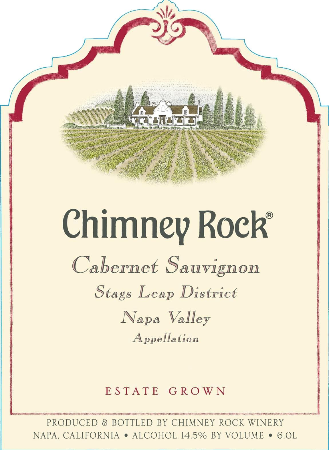 Chimney Rock Stags Leap District Cabernet Sauvignon 2016 Front Label