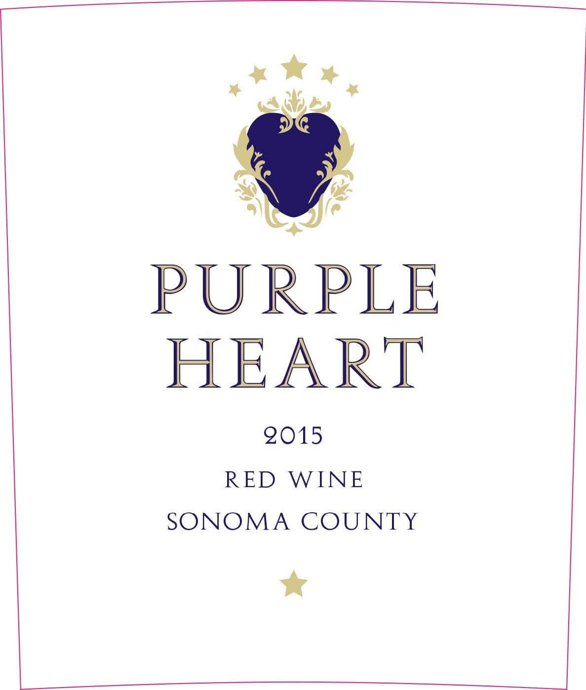 Purple Heart Red Wine 2015 Front Label