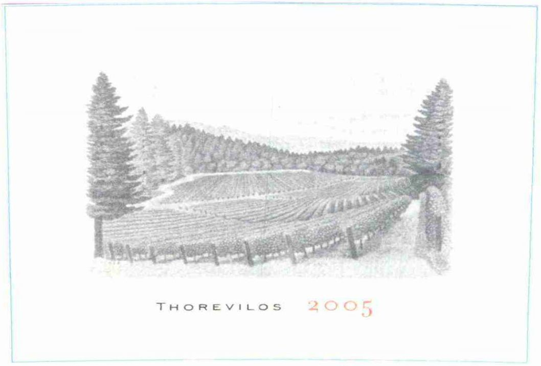 Abreu Vineyards Thorevilos 2005  Front Label
