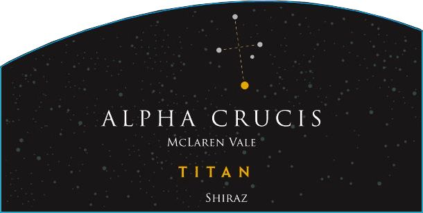 Alpha Crucis Titan Shiraz 2016  Front Label