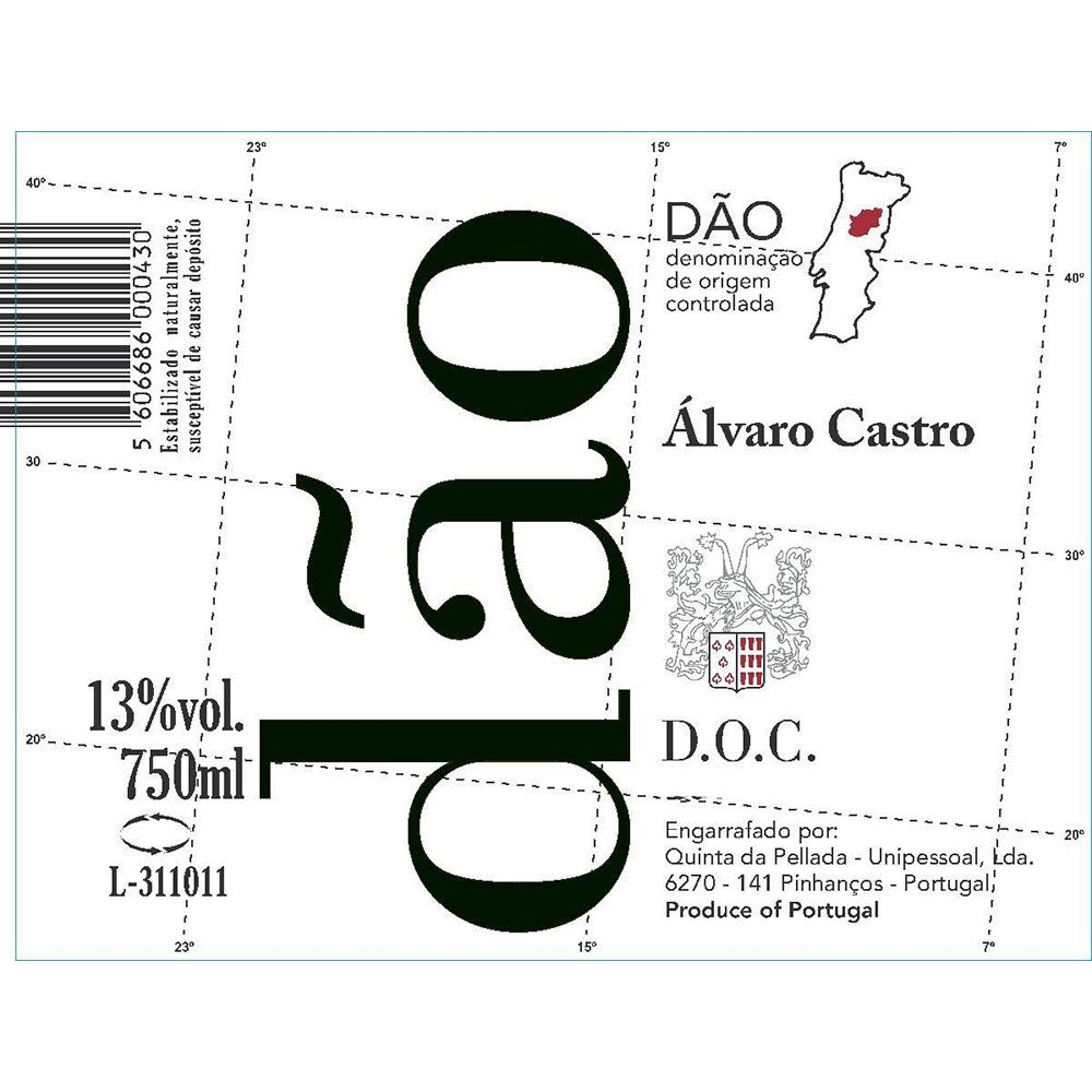 Alvaro Castro Dao Red 2016  Front Label