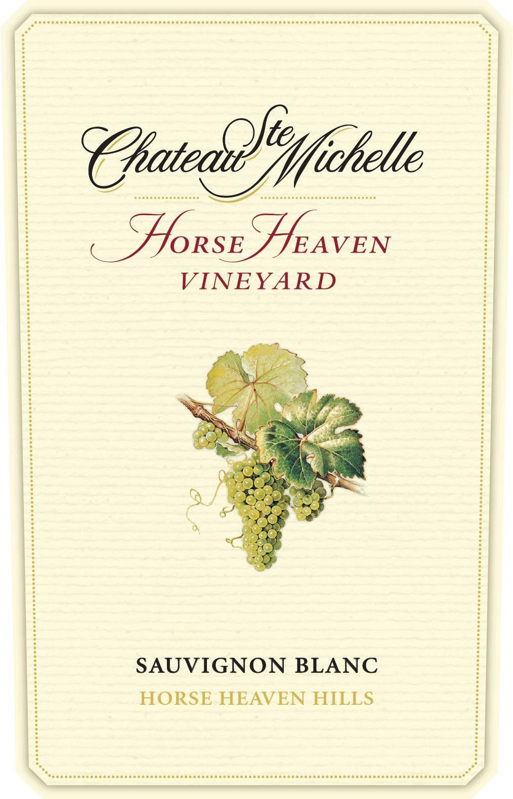 Chateau Ste. Michelle Horse Heaven Vineyard Sauvignon Blanc 2017  Front Label