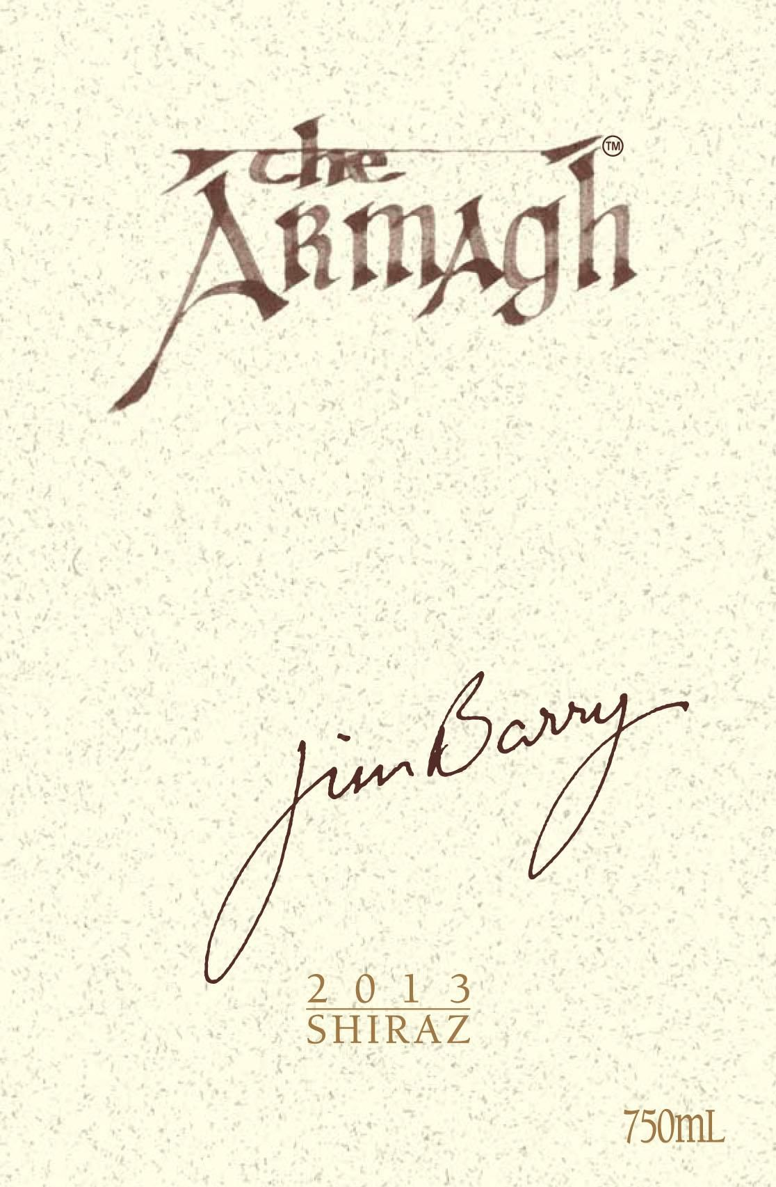 Jim Barry The Armagh Shiraz 2013  Front Label