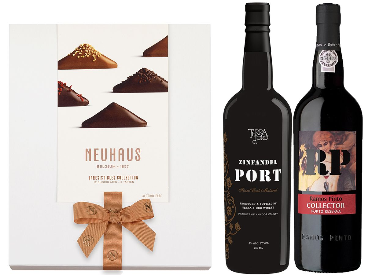 wine.com 92 Point Port & Specialty Chocolates Gift Set  Gift Product Image