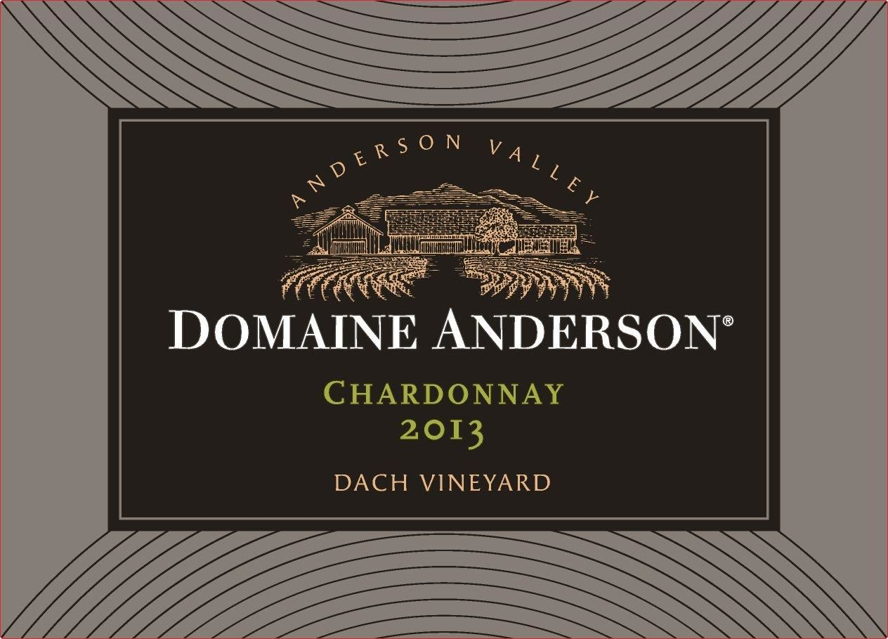 Domaine Anderson Dach Vineyard Chardonnay 2013  Front Label