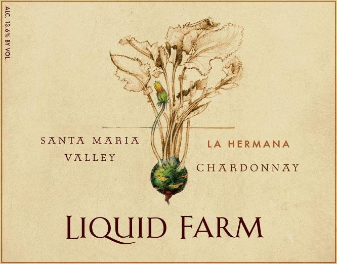 Liquid Farm La Hermana Chardonnay 2017  Front Label