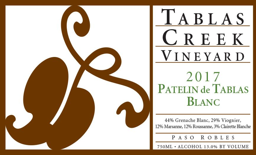 Tablas Creek Patelin de Tablas Blanc 2017  Front Label