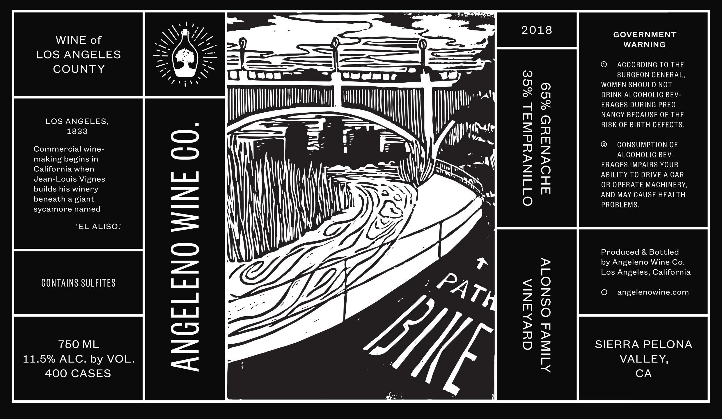 Angeleno Wine Co Bike Path Red Blend  Front Label