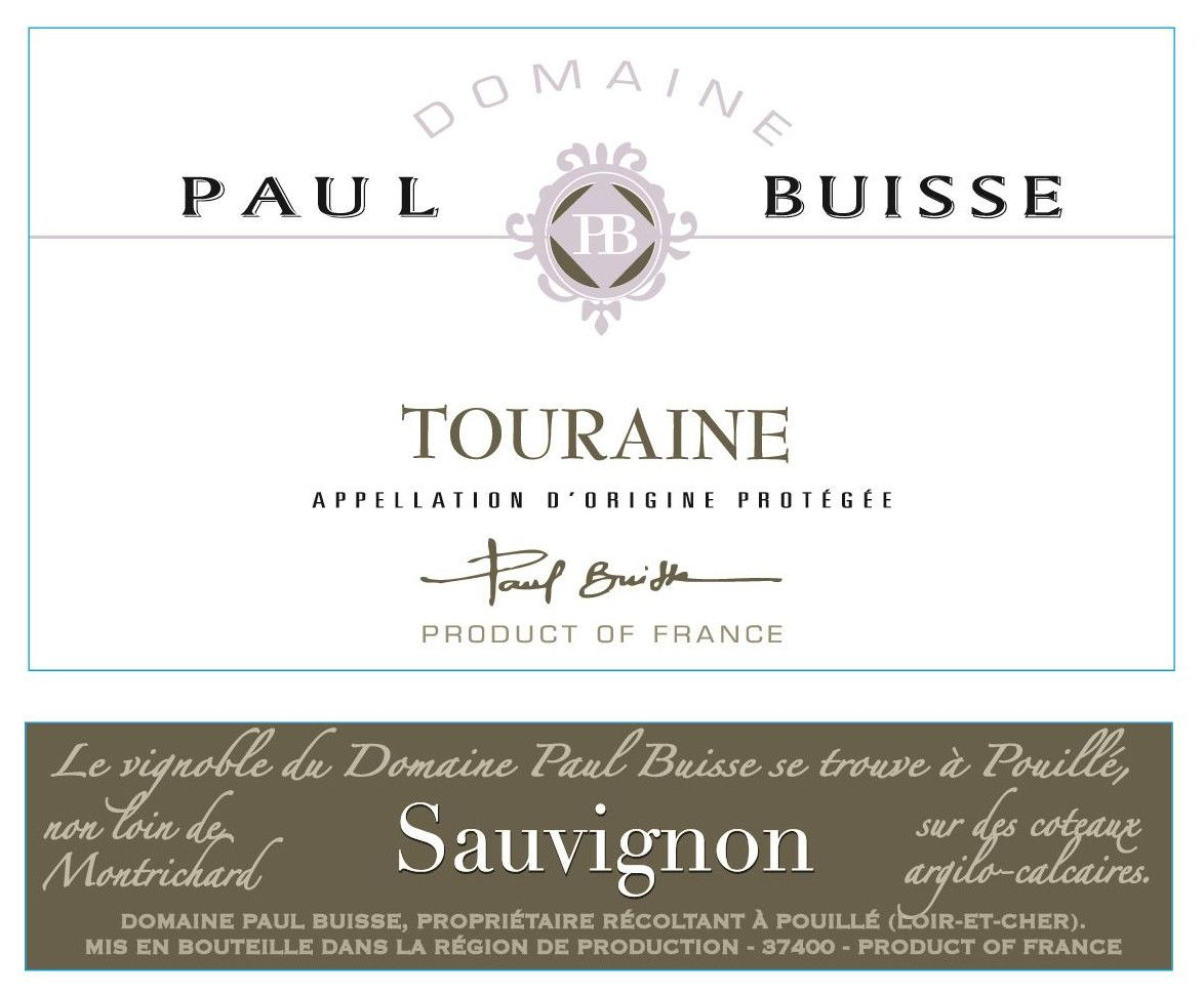 Domaine Paul Buisse Touraine Sauvignon 2018 Front Label