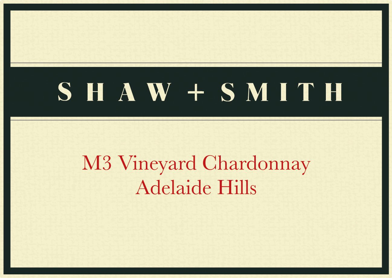 Shaw & Smith M3 Chardonnay 2017  Front Label