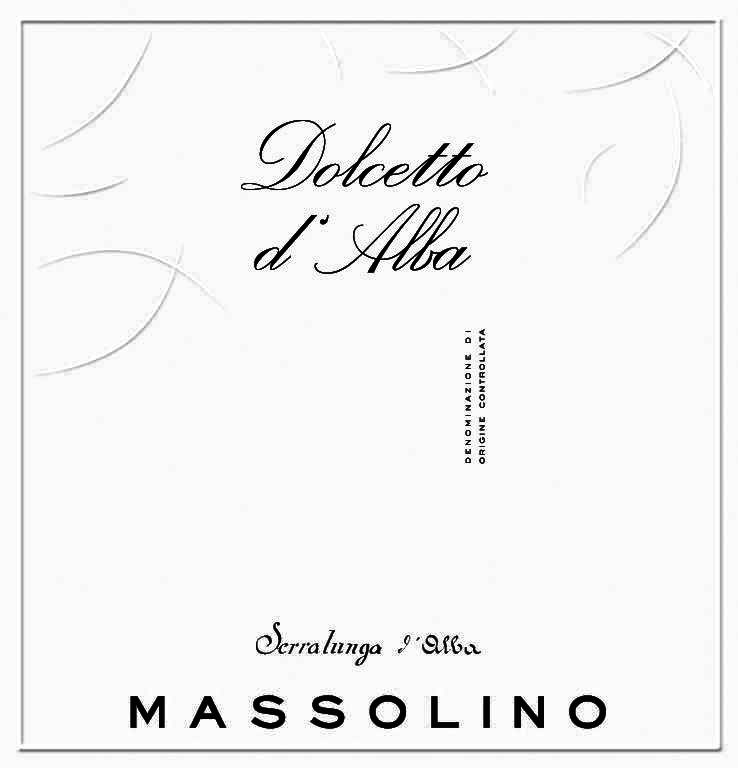 Massolino Dolcetto d'Alba 2017 Front Label