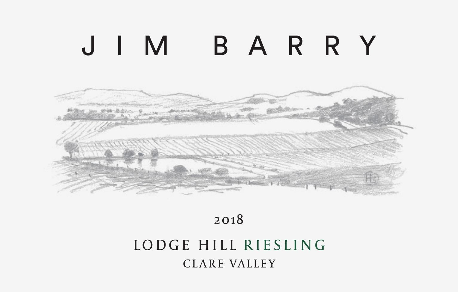 Jim Barry Lodge Hill Riesling 2018 Front Label