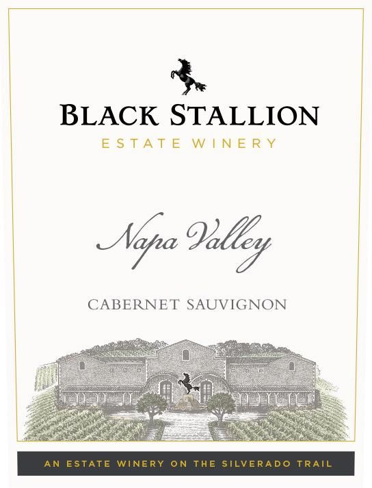 Black Stallion Winery Cabernet Sauvignon 2016 Front Label