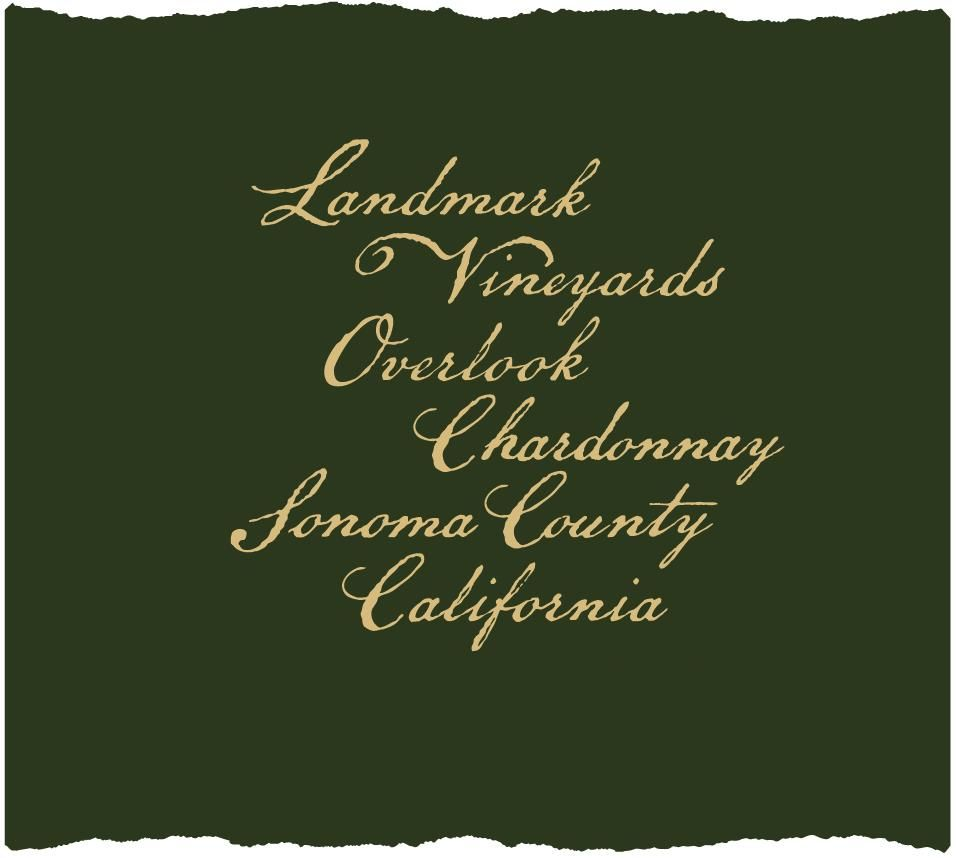 Landmark Overlook Chardonnay 2018  Front Label