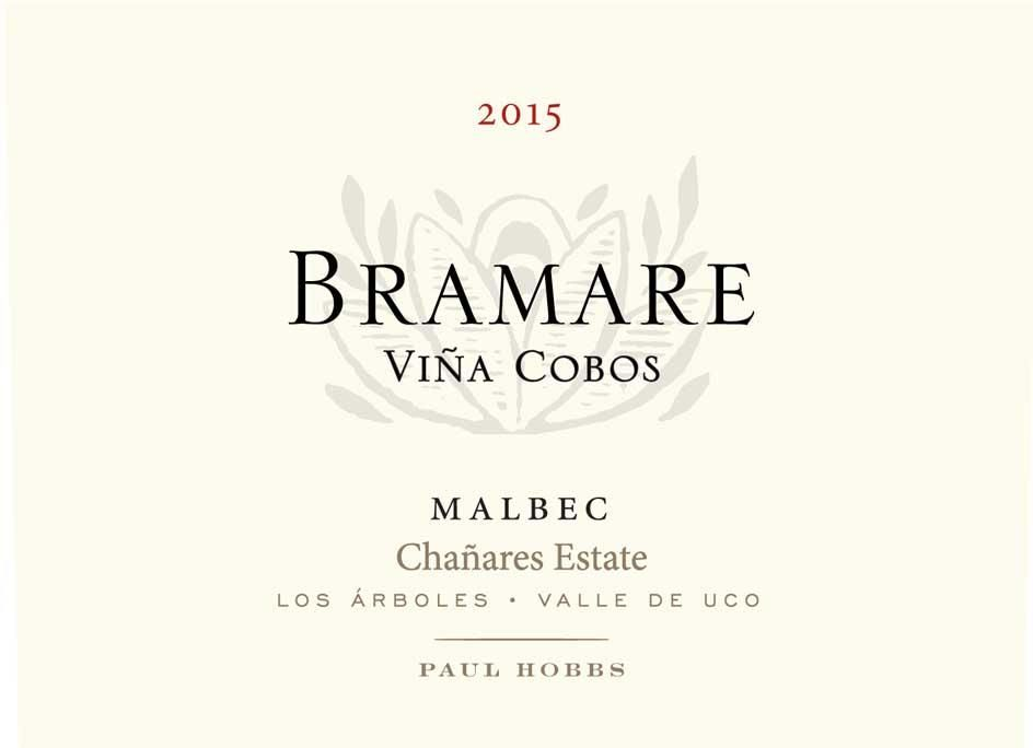 Vina Cobos Bramare Chanares Estate 2015  Front Label