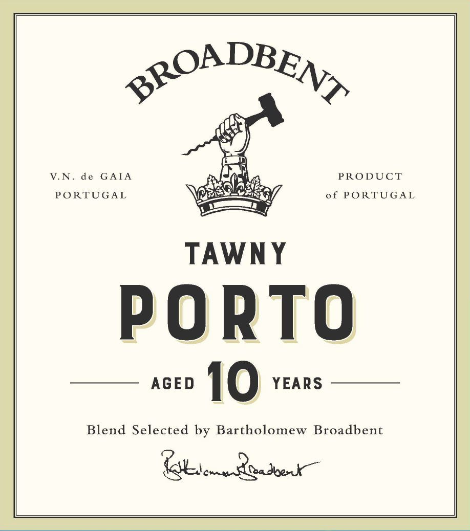 Broadbent 10 Year Tawny Port  Front Label