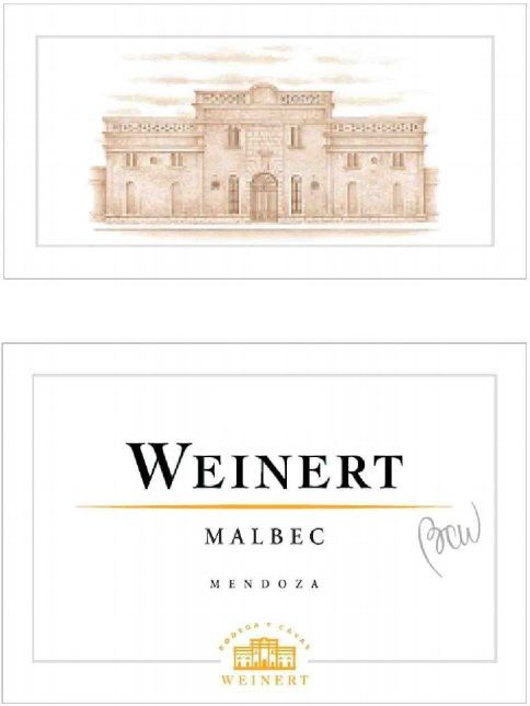 Weinert Estate Malbec 2010  Front Label
