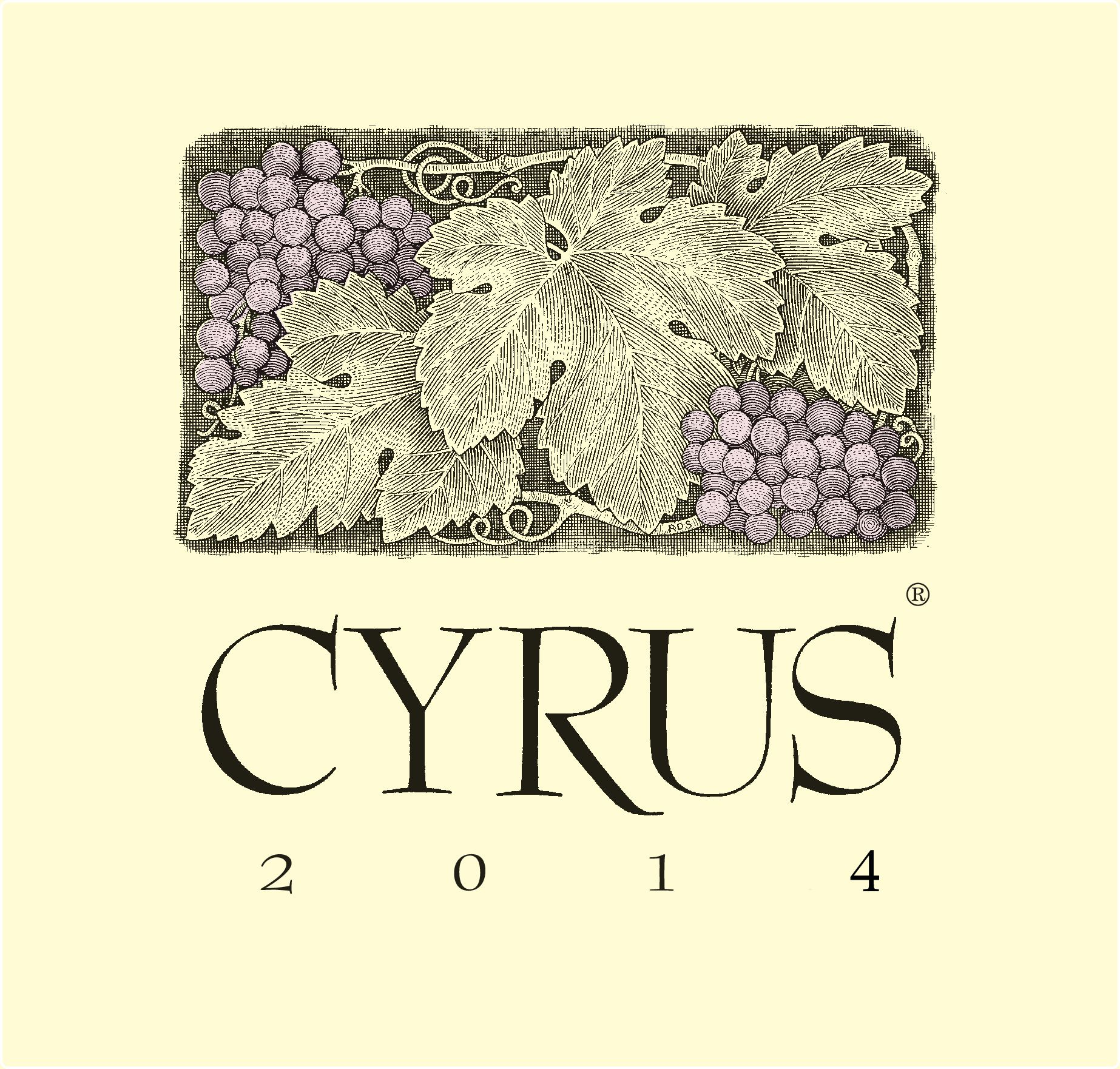 Alexander Valley Vineyards Cyrus 2014  Front Label