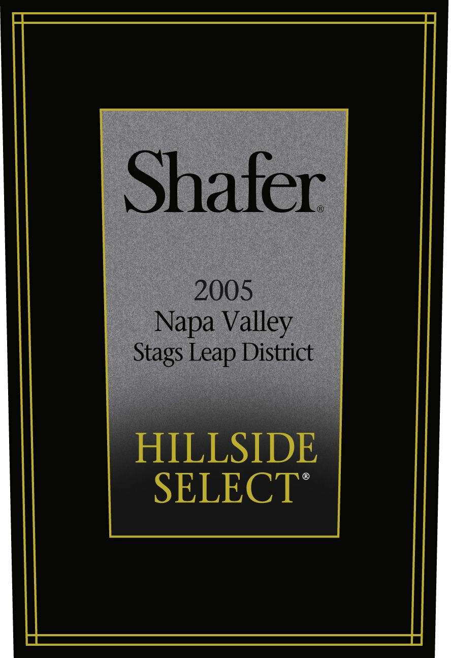 Shafer Hillside Select Cabernet Sauvignon (3 Liter Bottle) 2005  Front Label