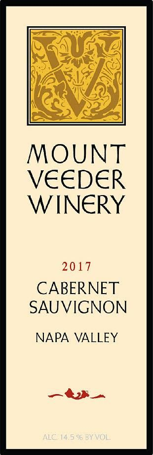 Mount Veeder Winery Cabernet Sauvignon 2017  Front Label