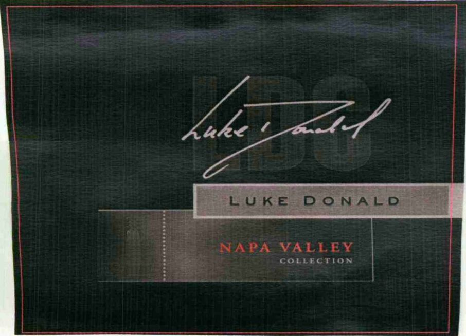 Luke Donald Collection LDC Red 2006  Front Label