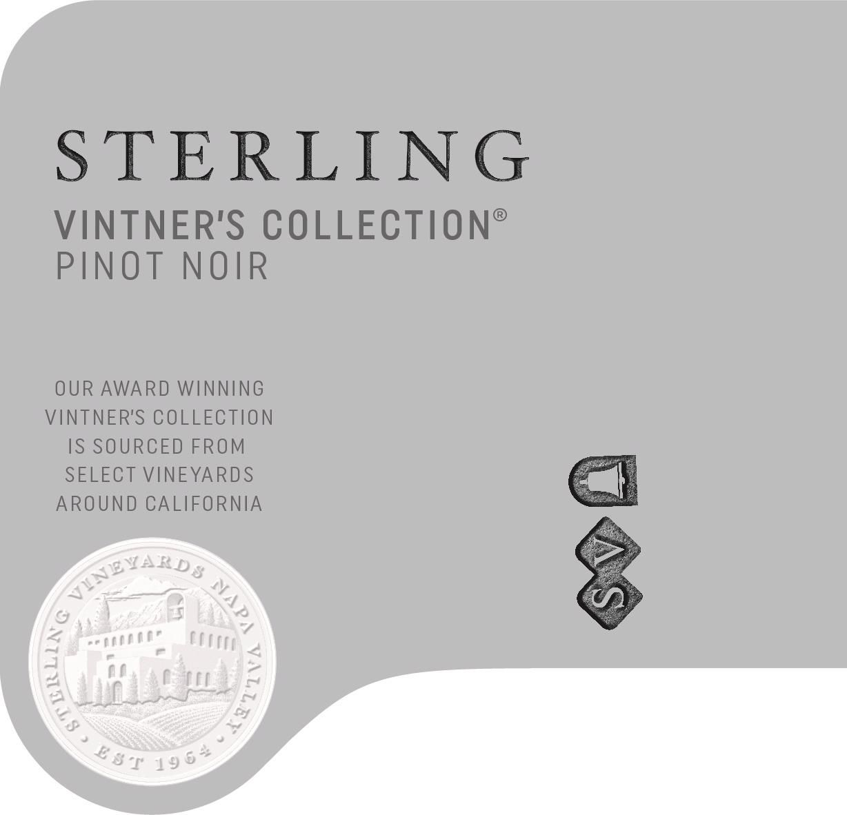 Sterling Vintner's Collection Pinot Noir 2018  Front Label