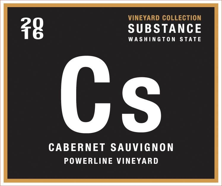Substance Vineyard Collection Powerline Cabernet Sauvignon 2016  Front Label