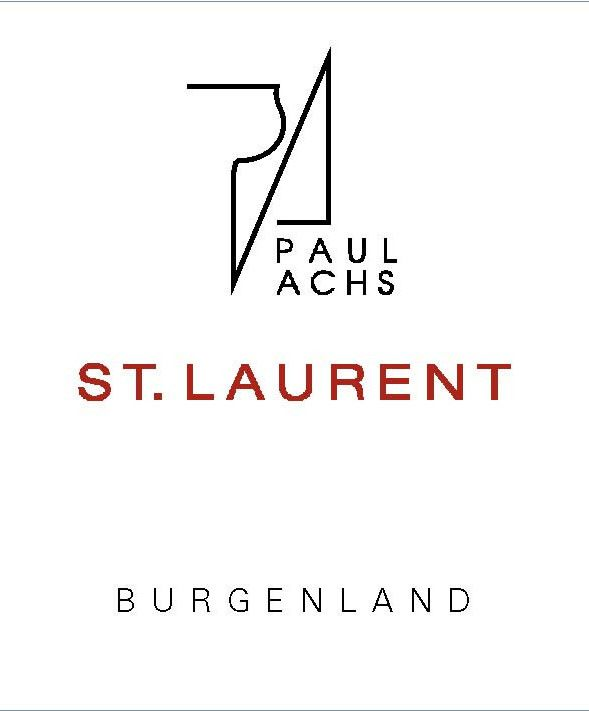 Paul Achs St. Laurent 2016  Front Label