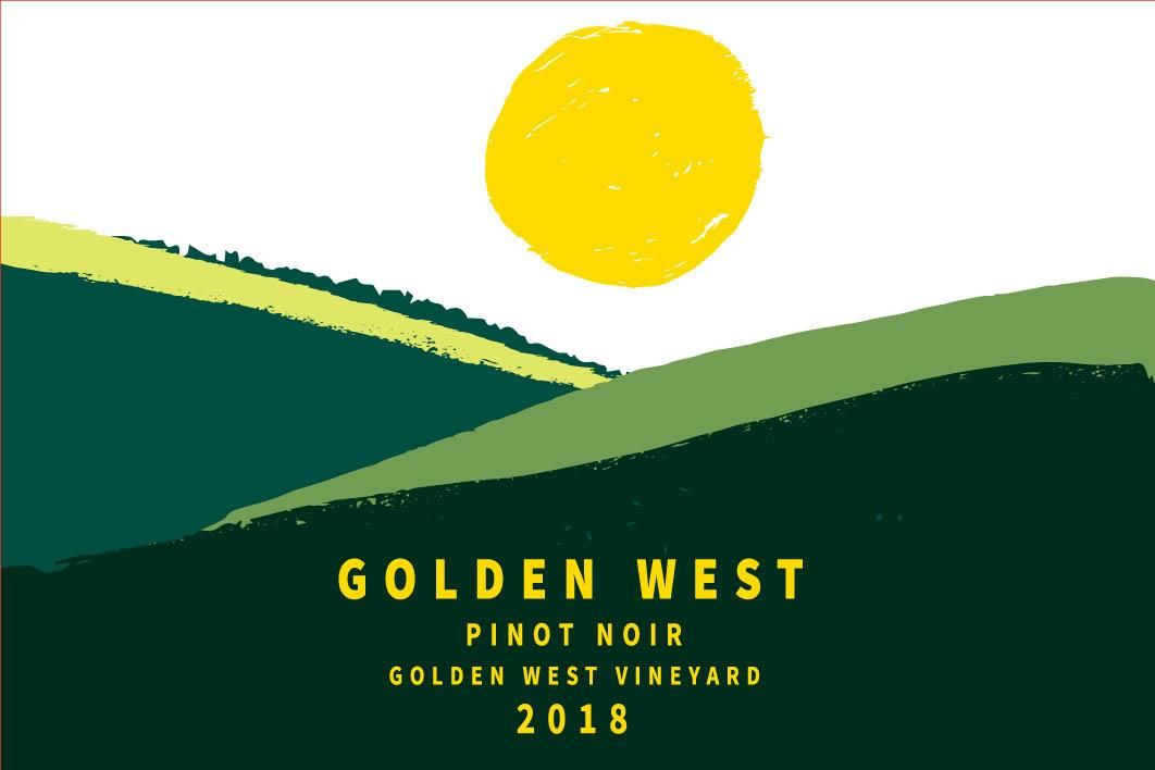 Golden West Pinot Noir 2018 Front Label