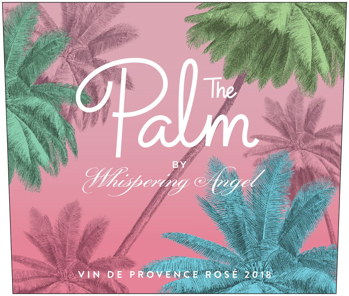 The Palm by Whispering Angel Rose 2018 Front Label