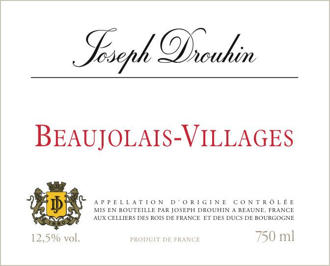 Joseph Drouhin Beaujolais Villages 2018  Front Label