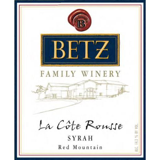 Betz Family Winery La Cote Rousse Syrah 2016 Front Label