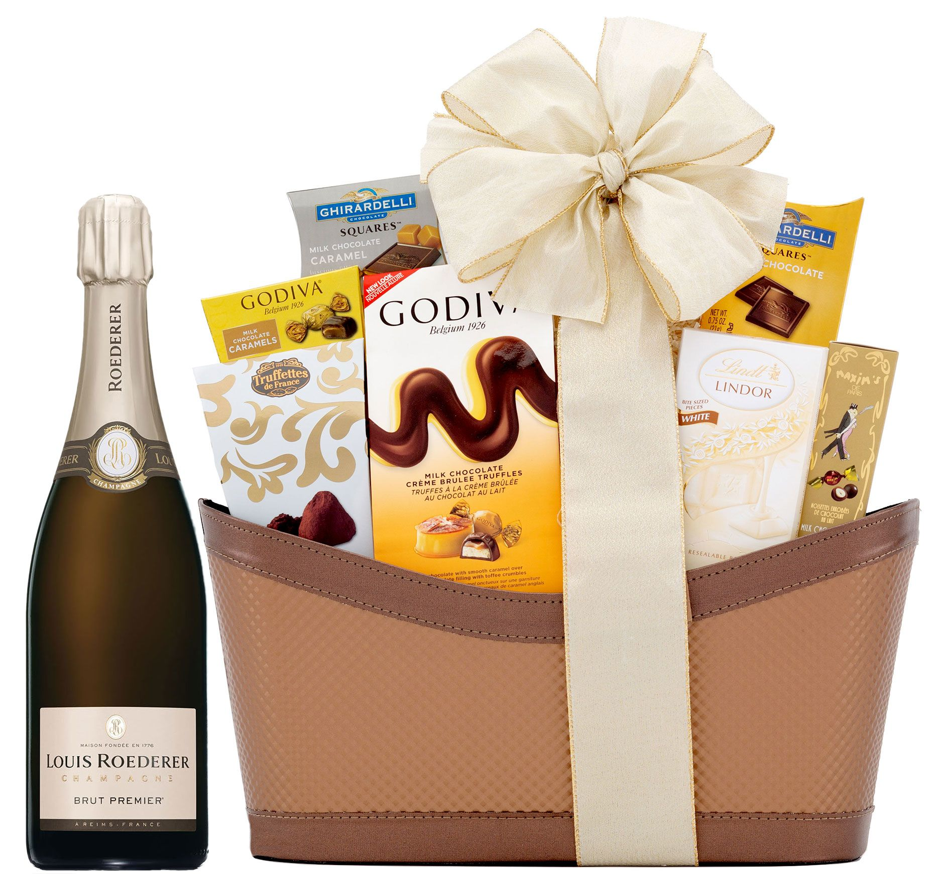 wine.com 95 Point Roederer Estate L'Ermitage & Gourmet Chocolates Gift Basket  Gift Product Image