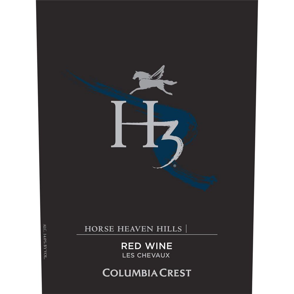 Columbia Crest H3 Les Chevaux Red Blend 2016  Front Label